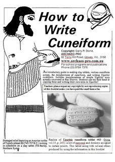 How to Write Cuneiform Booklet